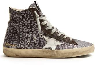 Golden Goose Francy high-top leopard-print trainers