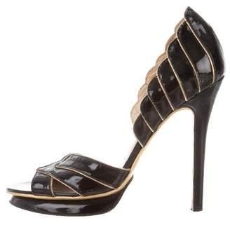 Alexandre Birman Patent Leather d'Orsay Sandals