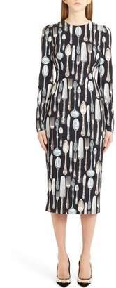 Dolce & Gabbana Silerware Sheath Dress