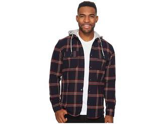 DC Runnel Long Sleeve Hooded Flannel Top Men's Long Sleeve Pullover