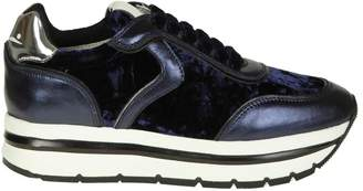 Voile Blanche may Sneakers In Leather And Velvet Color Blue