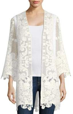 Kobi Halperin Lace Embroidered Cardigan