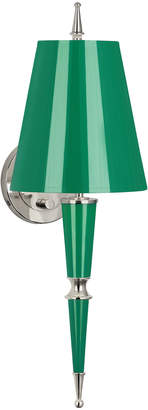 Jonathan Adler Versailles Sconce in Nickel with Painted Shade