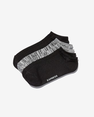 Express 3 Pack Solid And Space Dye Ankle Socks