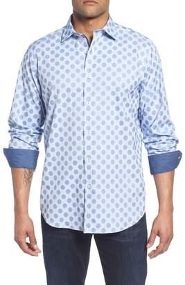 Bugatchi Classic Fit Dot Check Sport Shirt