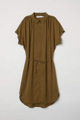 H&M Lyocell Shirt Dress - Green