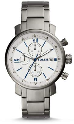 Fossil Rhett Chronograph Smoke Stainless Steel Watch