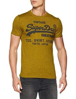 Superdry Men's Shirt Shop Tee Kniited Tank Top, (Arazona Orange Grit Vv7)