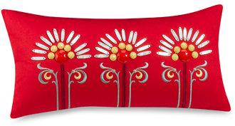 Jaipur Red Oblong Toss Pillow