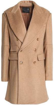 R 13 Double-Breasted Camel-Blend Coat