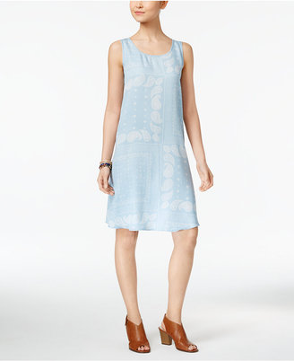 Style & Co Printed Denim Shift Dress, Created for Macy's $59.50 thestylecure.com