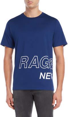 Rag & Bone Cobalt Logo Wrap Tee