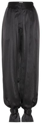 Hillier Bartley High-rise silk satin trousers