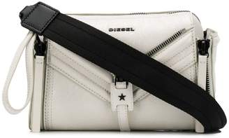 Diesel metallic finish crossbody bag