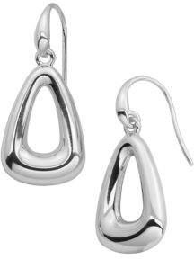 Lord & Taylor Sterling Silver Triangle Hoop Earrings