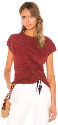 Raquel Allegra Gathered Tie Tee