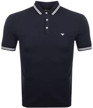 Giorgio Armani Emporio Short Sleeved Polo T Shirt Navy