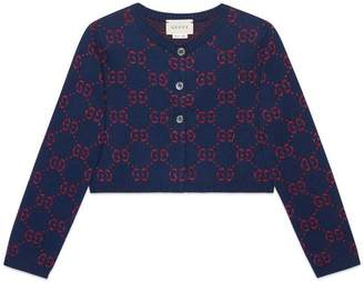 Gucci Children's GG cotton lame cardigan