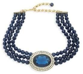 Heidi Daus Crystal Beaded Three-Row Necklace