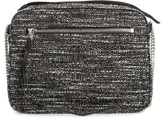 ALLSAINTS 'Fleur de Lis' Tweed Crossbody Bag $178 thestylecure.com