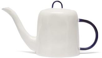 Feldspar - Painted Handle Fine China Tea Pot - Blue White