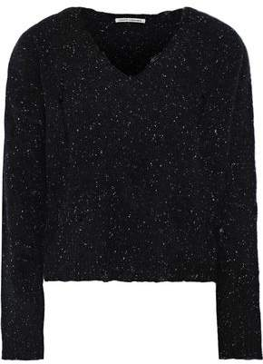 Autumn Cashmere Distressed Donegal Cashmere Sweater