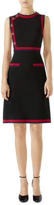 Gucci Stripe Trim Jersey A-Line Dress