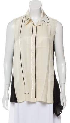 Reed Krakoff Sleeveless Button-Up Top