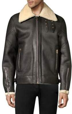 Paul Smith Shearling Flight Jacket