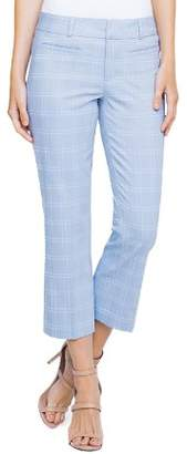 Liverpool Vera Windowpane Straight Crop Pants