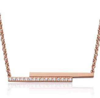 Bling It Around Again Double Bar Necklace