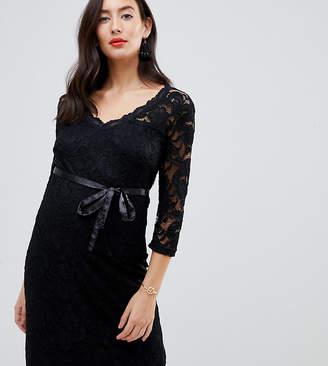 Mama Licious Mama.Licious Mamalicious lace mini dress in black