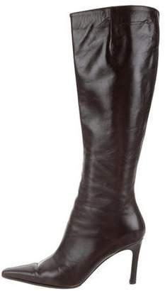 Ellen Tracy Leather Knee-High Boots