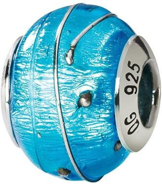 Murano Prerogatives Sterling Blue & Silver Italian Glass Bead