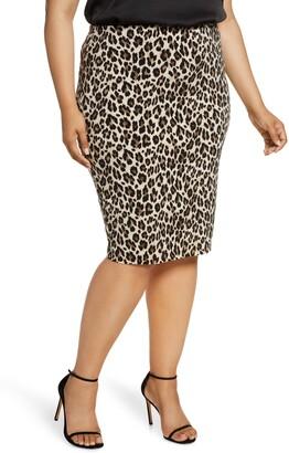 Vince Camuto Leopard Pencil Skirt