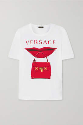 Versace Printed Cotton-jersey T-shirt - White