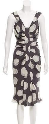 Christian Dior Silk Polka Dot Dress