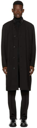 Lemaire Reversible Black Wool Coat