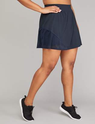 Cooling Active Skort with Mesh Inset
