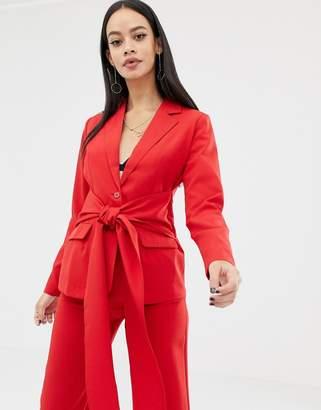UNIQUE21 tie front blazer
