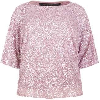 Marina Rinaldi Sequin-Embellished Top
