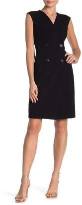 Calvin Klein Cap Sleeve Buttoned Dress