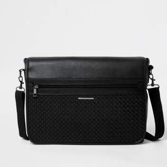 River Island Black embossed satchel bag