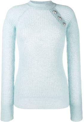 Balmain knitted crew neck jumper