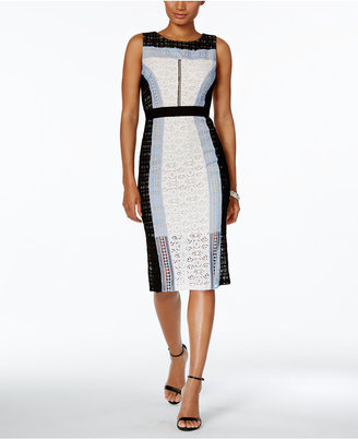 JAX Colorblocked Lace Sheath Dress $158 thestylecure.com