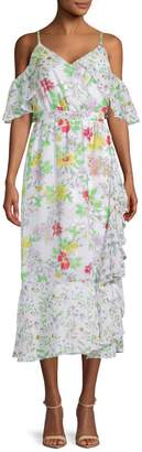 Nanette Lepore Nanette Printed Ruffled Day Dress