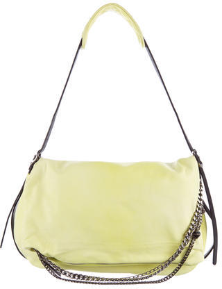 Jimmy Choo Jimmy Choo Bicolor Leather Shoulder Bag