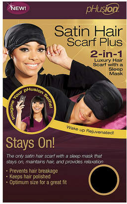 PHUSION Phusion Luxury Hair Scarf Plus Black Mc Hair Wrap