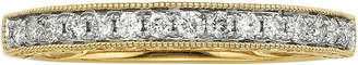 JCPenney MODERN BRIDE 1/4 CT. T.W. Certified Diamond 14K Yellow Gold Wedding Band