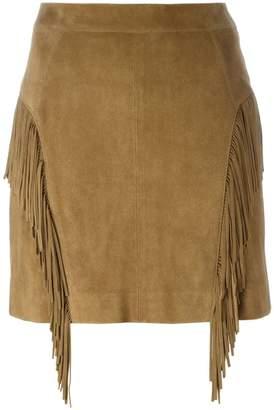 Saint Laurent fringed skirt